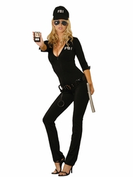 9666 7pc Sexy FBI Agent Halloween Costume by Elegant Moments S-L