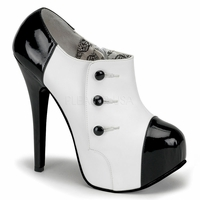 """Teeze-20 5 3/4"""" Heel 3 Button Ankle Boot W/Concealed Platform by Bordello"""