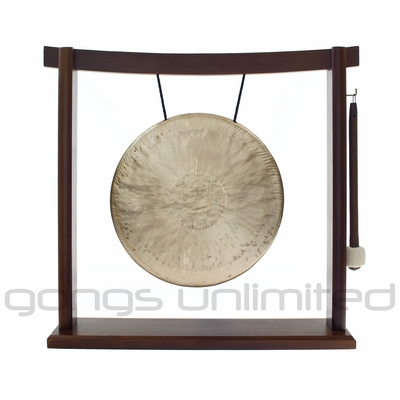 "SOLD OUT 10"" Pasi Gong on the Woodsonic Gong Stand - FREE SHIPPING"