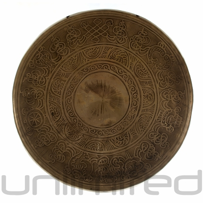 "11"" to 12"" Engraved Nepalese Gong"