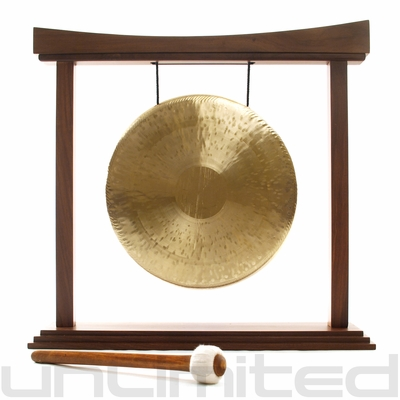 """11"""" Night Gong on The Small Eternal Present Gong Stand - FREE SHIPPING"""