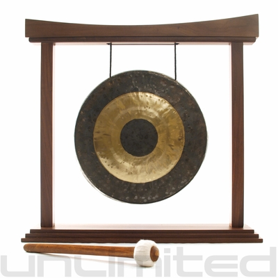 "12"" Chau Gong on The Small Eternal Present Gong Stand - FREE SHIPPING"