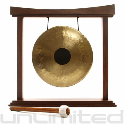 """12"""" Chocolate Drop Gong on The Small Eternal Present Gong Stand - FREE SHIPPING"""