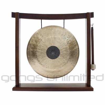 "12"" Chocolate Drop Gong on Woodsonic Gong Stand - FREE SHIPPING"