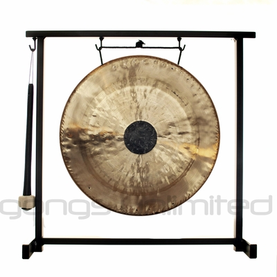 """12"""" Chocolate Drop Gong on the Zildjian Table-Top Gong Stand (P0561) - FREE SHIPPING"""