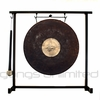 """12"""" Dark Star Gong on the Zildjian Table-Top Gong Stand (P0561) - FREE SHIPPING"""