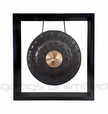 """12"""" Dark Star Gong in Squarely Wall Hanger - FREE SHIPPING"""