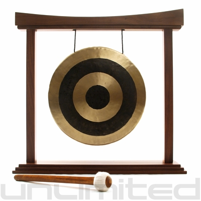 "12"" Subatomic Gong on The Small Eternal Present Gong Stand - FREE SHIPPING"