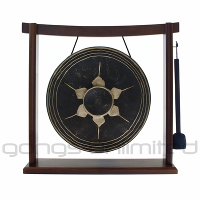 "SOLD OUT 12"" Thai Gong on the Woodsonic Gong Stand - FREE SHIPPING - SOLD OUT"