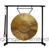 """12"""" Tiger Gong on the Zildjian Table-Top Gong Stand (P0561) - FREE SHIPPING"""