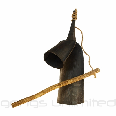 """12"""" Traditional Gankogui Bell from Ghana - FREE SHIPPING"""