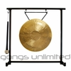 """12"""" White Gong on the Zildjian Table-Top Gong Stand (P0561) - FREE SHIPPING"""