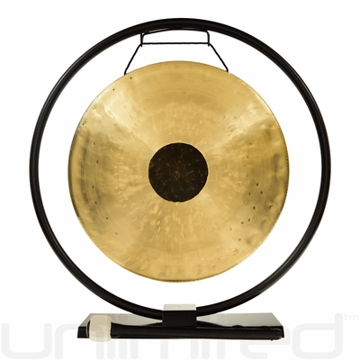 """14"""" Chocolate Drop Gong on Au Courant Gong Stand - FREE SHIPPING"""
