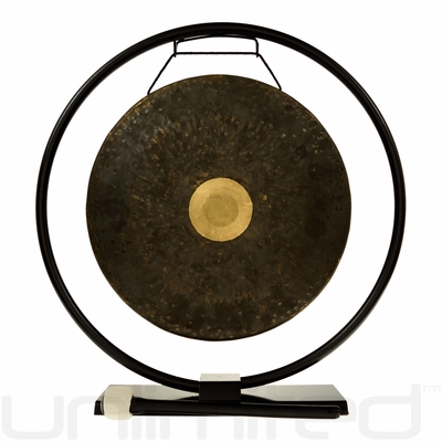 """14"""" Dark Star Gong on Au Courant Gong Stand - FREE SHIPPING"""