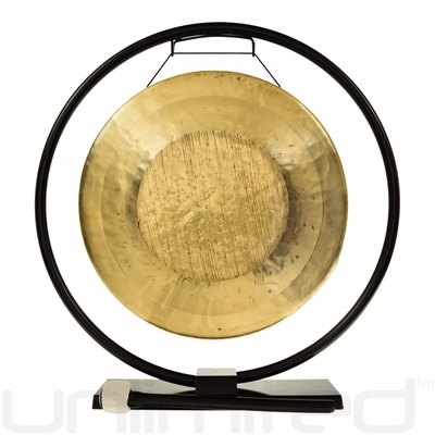 "14"" Tiger Gong (Opera Style - Pitch Bend Gong) on Au Courant Gong Stand - FREE SHIPPING"
