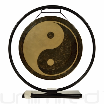 """14"""" Yin Yang Gong on Au Courant Stand - FREE SHIPPING"""
