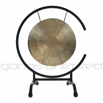 """15"""" White Gong on High C Gong Stand - FREE SHIPPING"""
