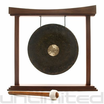 "16"" Dark Star Gong on the Eternal Present Gong Stand - FREE SHIPPING"
