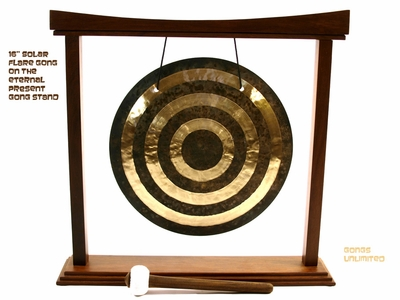 """16"""" Solar Flare Gong on The Eternal Present Gong Stand - FREE SHIPPING"""
