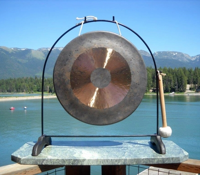 """18"""" Bright Chau Gong on the Super Love Gong Stand - FREE SHIPPING - SOLD OUT"""