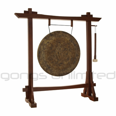 "22"" Atlantis Gong on Modern Antique Gong Stand - FREE SHIPPING"