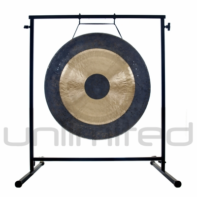 """22"""" Bright Chau Gong on the Fruity Buddha Gong Stand - FREE SHIPPING"""