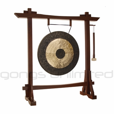 "22"" Chau Gong on Modern Antique Gong Stand - FREE SHIPPING"