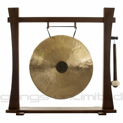 """22"""" Chocolate Drop Gong on Spirit Guide Gong Stand - FREE SHIPPING"""