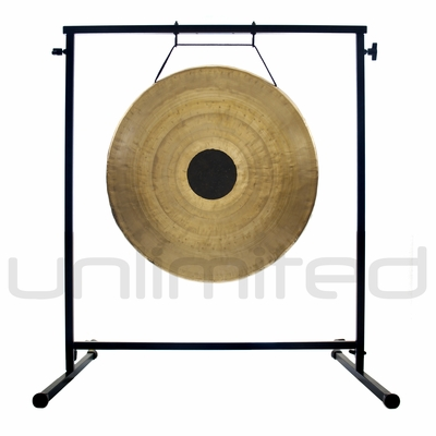 """22"""" Chocolate Drop Gong on the Fruity Buddha Gong Stand - FREE SHIPPING"""