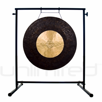 "22"" Dark Star Gong on the Fruity Buddha Gong Stand - FREE SHIPPING"