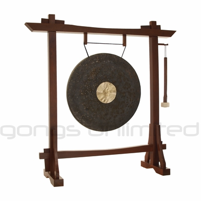 "22"" Dark Star Gong on Modern Antique Gong Stand - FREE SHIPPING"