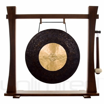 """22"""" Dark Star Gong on Spirit Guide Gong Stand - FREE SHIPPING"""