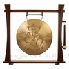 "22"" Ganesha Wind Gong on Spirit Guide Gong Stand"