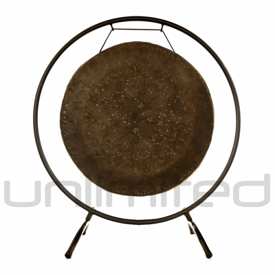 """22"""" Mother Tesla Gong on the Holding Space Gong Stand - FREE SHIPPING"""