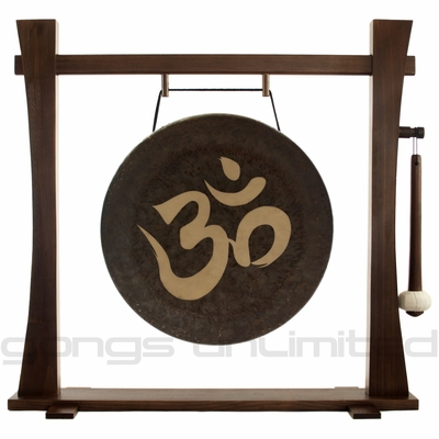 """18"""" Om Gong on Spirit Guide Gong Stand"""