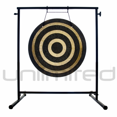 """22"""" Solar Flare Gong on the Fruity Buddha Gong Stand - FREE SHIPPING"""