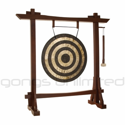 "22"" Solar Flare Gong on Modern Antique Gong Stand - FREE SHIPPING"