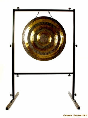 "22"" Solar Flare Gong on Rambo Rimbaud Gong Stand - FREE SHIPPING"