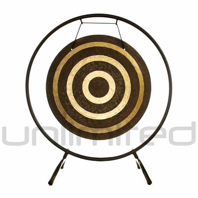 """22"""" Solar Flare Gong on the Holding Space Gong Stand - FREE SHIPPING"""