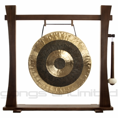 """22"""" Subatomic Gong on Spirit Guide Gong Stand - FREE SHIPPING"""
