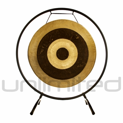 "22"" Subatomic Gong on the Holding Space Gong Stand  - FREE SHIPPING"