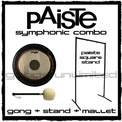 "22"" Paiste Symphonic Gong on Square Stand with M2 Mallet"