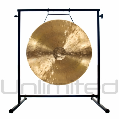 """20"""" White Gong on the Fruity Buddha Gong Stand - FREE SHIPPING - SOLD OUT"""