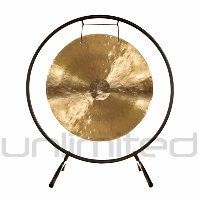 "22"" White Gong on the Holding Space Gong Stand - FREE SHIPPING"