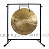 """22"""" Wind Gong on the Fruity Buddha Gong Stand - FREE SHIPPING"""