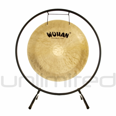 """SOLD OUT 22"""" Wuhan Wind Gong on the Holding Space Gong Stand - FREE SHIPPING"""