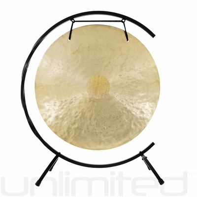 "22"" Wind Gong on Paiste Floor Gong Stand"