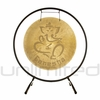 "22"" Ganesha Wind Gong on the Holding Space Gong Stand - FREE SHIPPING"