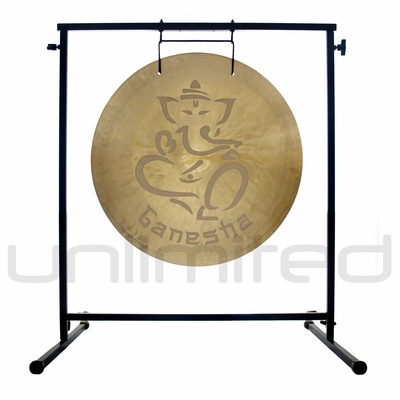 """22"""" Ganesha Wind Gong on the Fruity Buddha Gong Stand - FREE SHIPPING"""