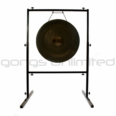 """24"""" Trung Sisters Vietnamese Gong on Rambo Rimbaud Stand"""